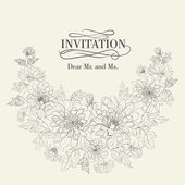 Invitation cards with chrysanthemums. — Cтоковый вектор