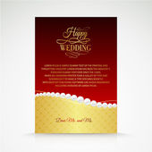 Wedding jewelry invitation card. — Vecteur
