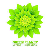 Background with green flower. — Stock Vector
