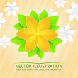 Paper flower and place for text. — Stock Vector