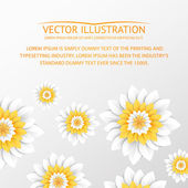 Paper flowers postcard. — Stock Vector