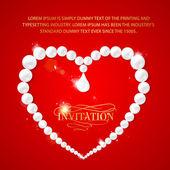Quadro de coração com perls — Vetorial Stock