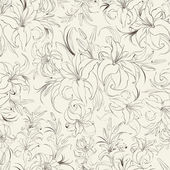 Seamless texture of lilies — Vettoriale Stock