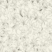 бесшовная текстура лилии — Cтоковый вектор