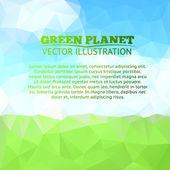 绿色的原野和树与蓝蓝的天空 — 图库矢量图片