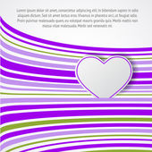 White heart on violet waves. — Vector de stock