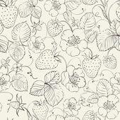 Jordgubbar seamless mönster. — Stockvektor