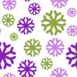 Seamless pattern with snowflakes — Stock Vector #33946971