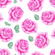 Seamless pattern with roses. — Stock Vector