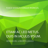 Grön triangel bakgrund för ungdom text. — Stockvektor