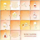 Flat vine infographic design. — Stock Vector