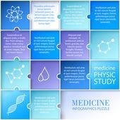 Flat medicine infographic design. — Stock Vector