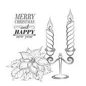 Christmas decoration. — Stock Vector