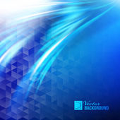 Abstract blue business wave background. — ストックベクタ