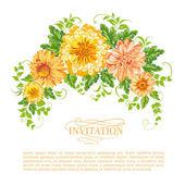 Chrysanthemum garland. — Stock Vector