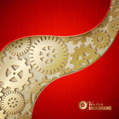 Mechanical gears background. — Stockvektor