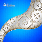 Mechanical gears background. — Cтоковый вектор