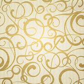 Golden abstract pattern on sepia background. — Cтоковый вектор