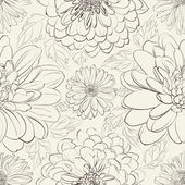 Crisantemo floral transparente — Vector de stock