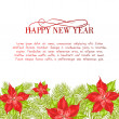 Christmas and New Year  greeting card. — Stock Vector