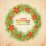 Christmas wreath. — Stock Vector #35781403
