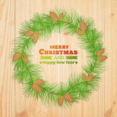 Christmas decoration. — Vector de stock