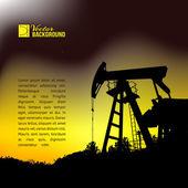 Oil pump jack. — Stock Vector