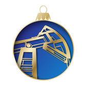 Oil industry christmas design. — Stock Vector