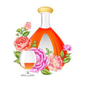 Rose and Cognac abstraction. — Stock Vector