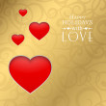 Happy valentine heart. — Stock Vector