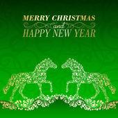 Tarjeta de felicitación de navidad. — Vector de stock