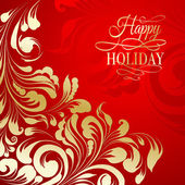 Holiday greeting card. — Vettoriale Stock