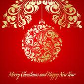 Carte de voeux de Noël. — Vecteur