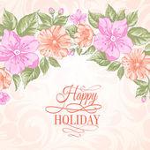 Sakura holiday invitation card. — Stock Vector
