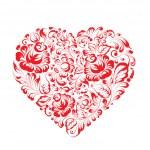 Heart of flowers gzhel — Stock Vector #37264281