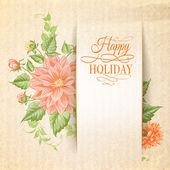 Chrysanthemum holiday card. — Stock Vector