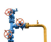 Gas valve tree. — Stock Photo