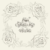 Happy holiday valntines card. — Stock Vector