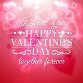 Happy valentine's day greeting card. — Wektor stockowy