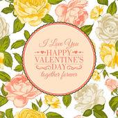 I love you card. — Stock Vector