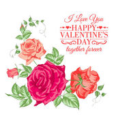 Bouquet of roses. — Stock Vector