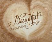 卡布奇诺咖啡泡沫 — 图库矢量图片