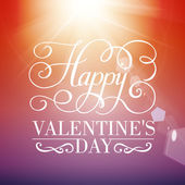 Happy Valentine's day typographical background. — Stock vektor