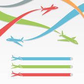 Background with colorful airplanes. — Stock Vector