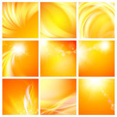 Set of nine abstract backgrounds. — Stock Vector
