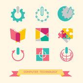 Flat icons set. — Stock Vector