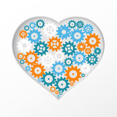 Gear heart. — Stock Vector