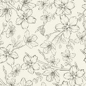 Cherry blossom seamless pattern. — Stock Vector