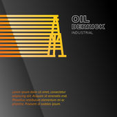 Oil rig icon. — Stock Vector