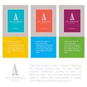 Industry cards, derrick symbol. — Stock Vector